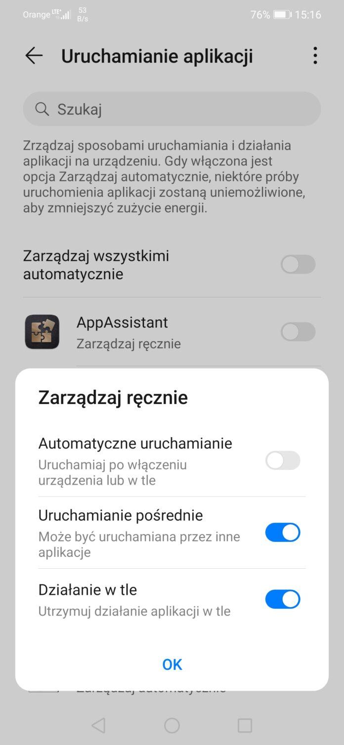 zarządzanie energią w telefonie